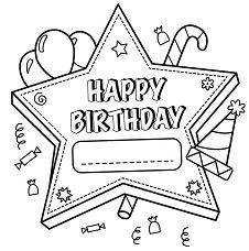 Birthday Decorations Coloring Page