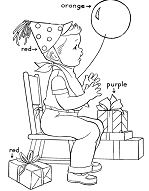 Birthday Gifts for Kids Coloring Page