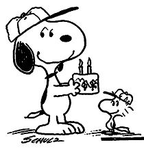 Birthday Snoopy Coloring Page