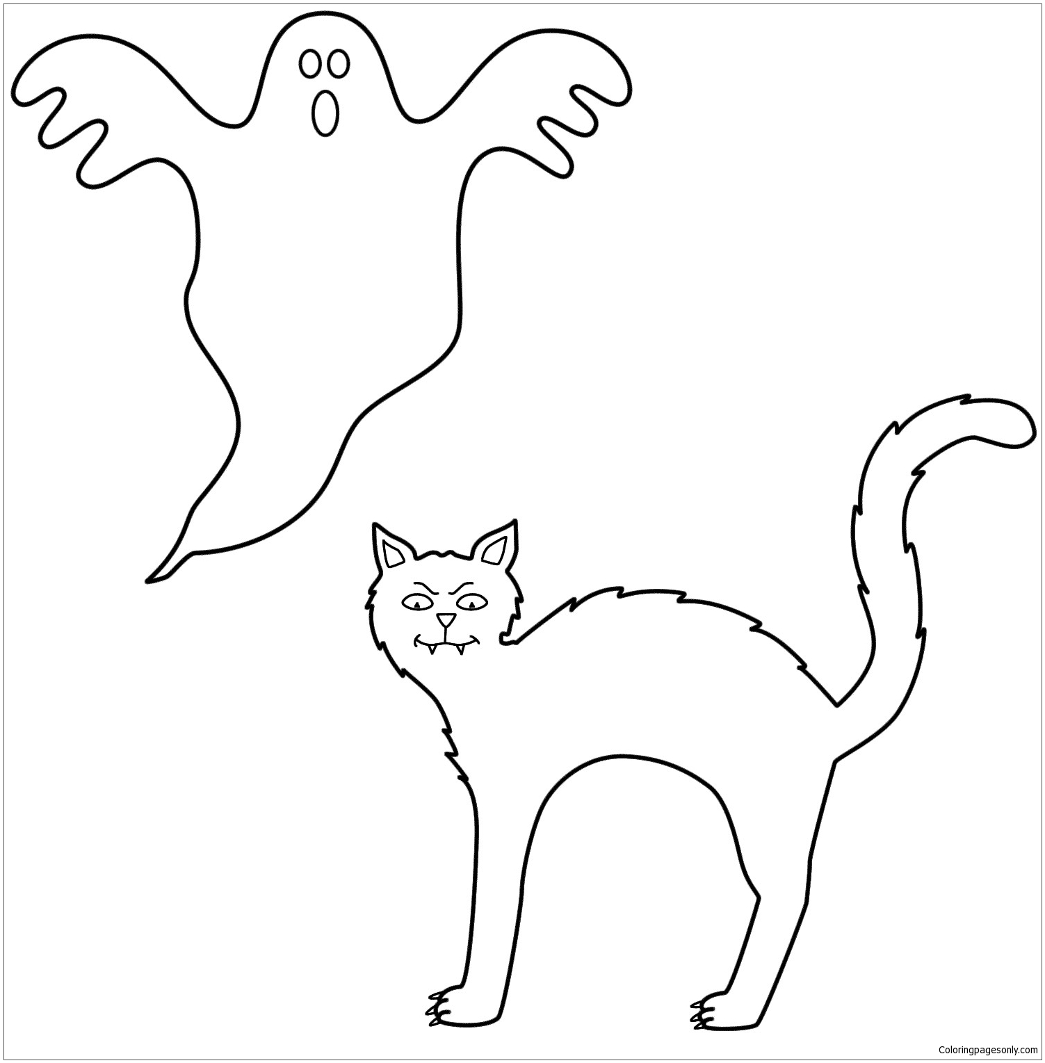 Black Cat Halloween Coloring Pages Holidays Coloring Pages Free Printable Coloring Pages Online
