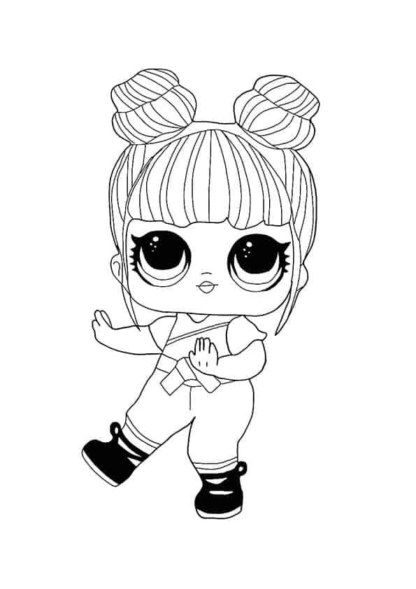 Lol Suprise Doll Blackbelt Coloring Page