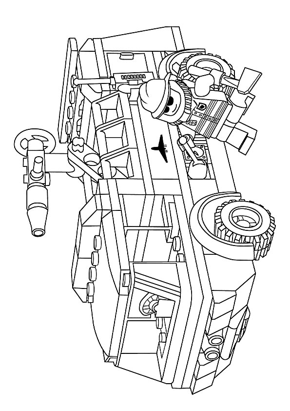 Lego City Airport Coloring Page Free Coloring Pages Online