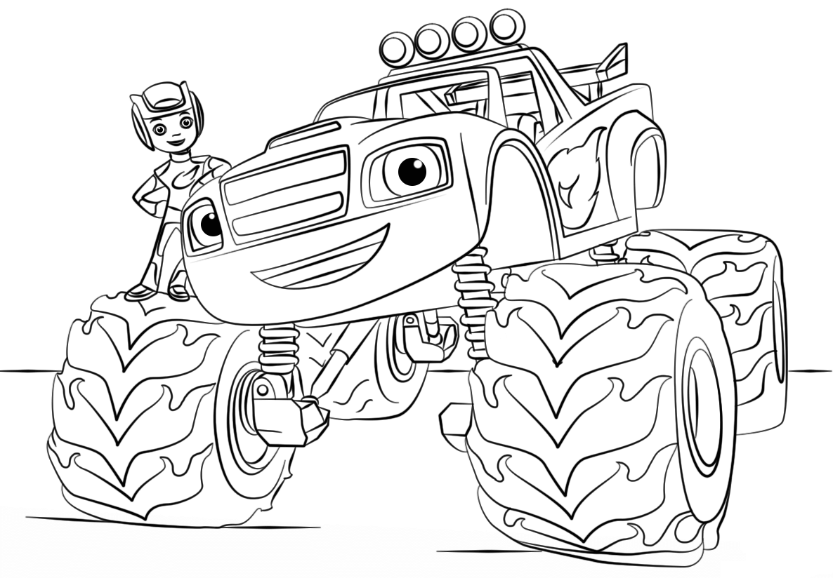 Blaze from Monster Truck Coloring Page