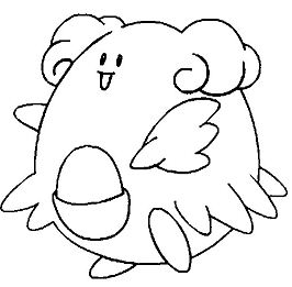 Blissey from Pokemon Coloring Page