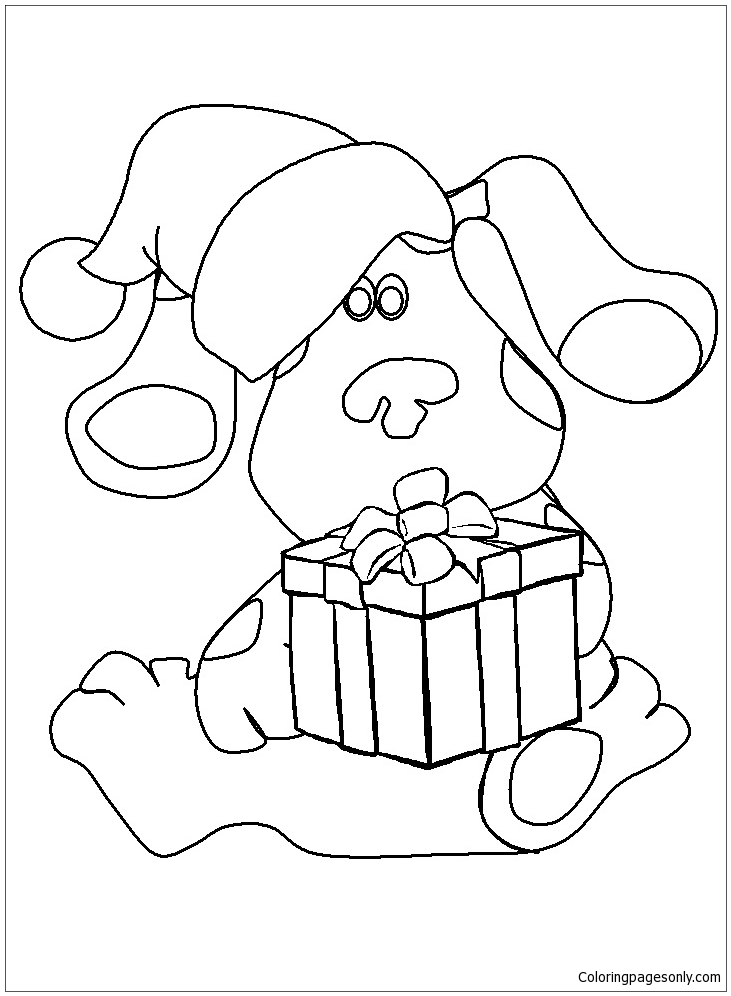 Blues Clues Coloring Page Free