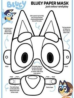 Bluey Paper Mask