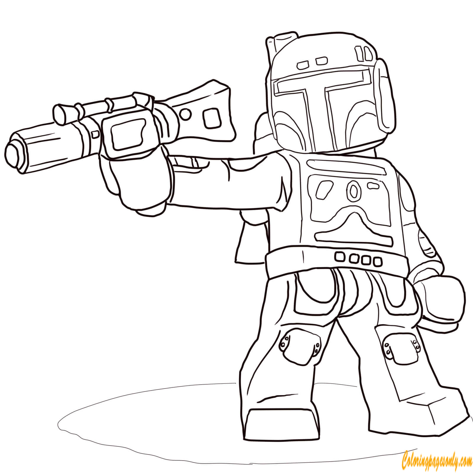 Boba Fett From Lego Star Wars Coloring Page Free Coloring Pages Online