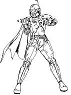 Boba Fett from Star Wars Coloring Page