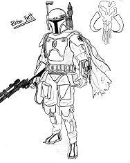 Boba Fett Star Wars Coloring Page