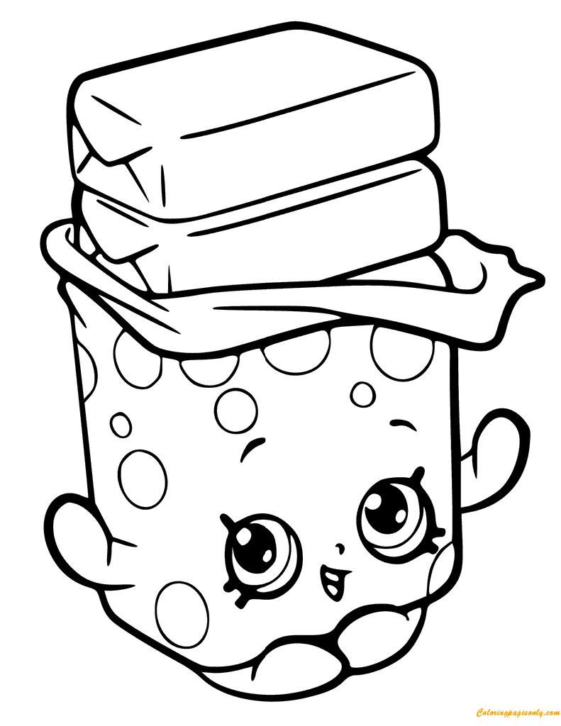 Bobby Bubble Gum Shopkin Season 6 Coloring Page - Free Coloring ...