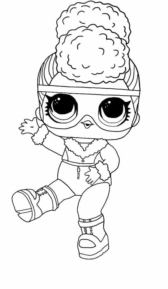 Lol Suprise Doll Bold B.B Coloring Page