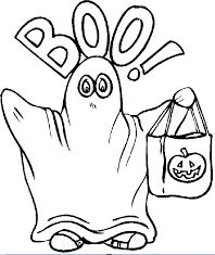 Boo Ghost Coloring Page