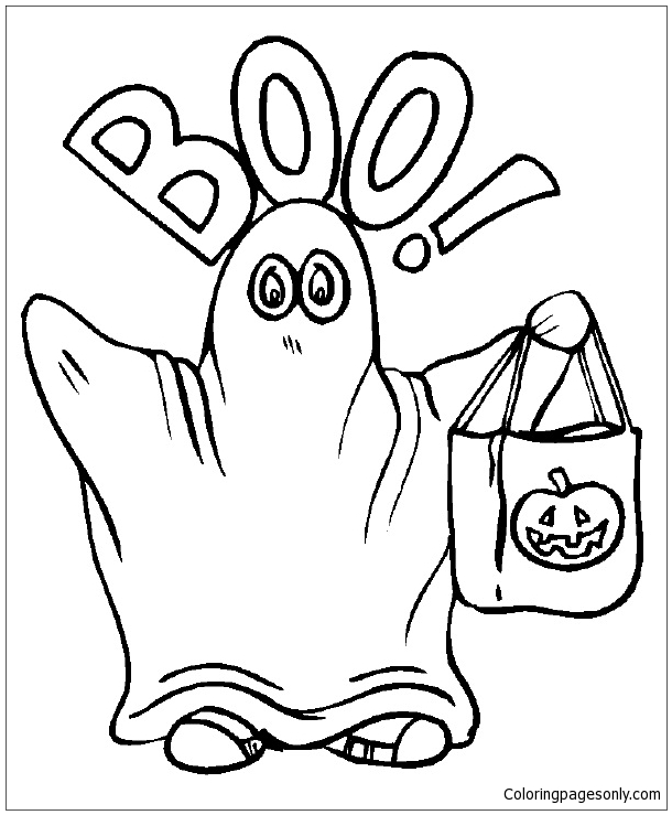 Boo Ghost Coloring Pages Holidays Coloring Pages Free Printable Coloring Pages Online