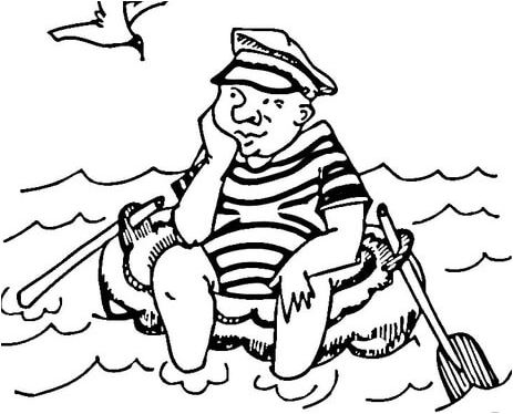 Bored Sailor Coloring Page