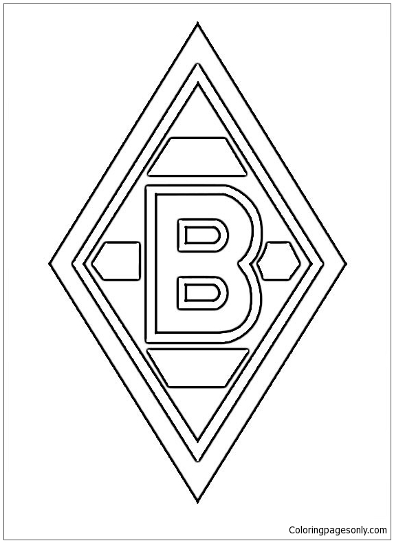 Borussia Monchengladbach Coloring Pages Soccer Clubs Logos Coloring Pages Coloring Pages For Kids And Adults