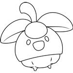 Bounsweet Pokemon Coloring Page