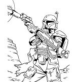 Bounty Hunter from Star Wars Coloring Page