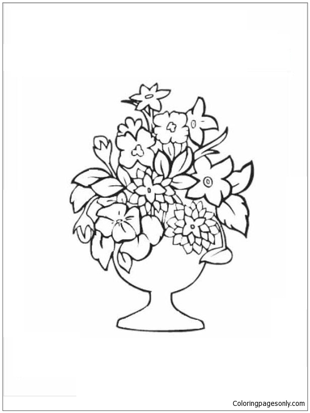 Bouquet Women S Day Coloring Page