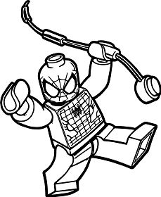Box Spiderman Lego Spider Man Coloring Page