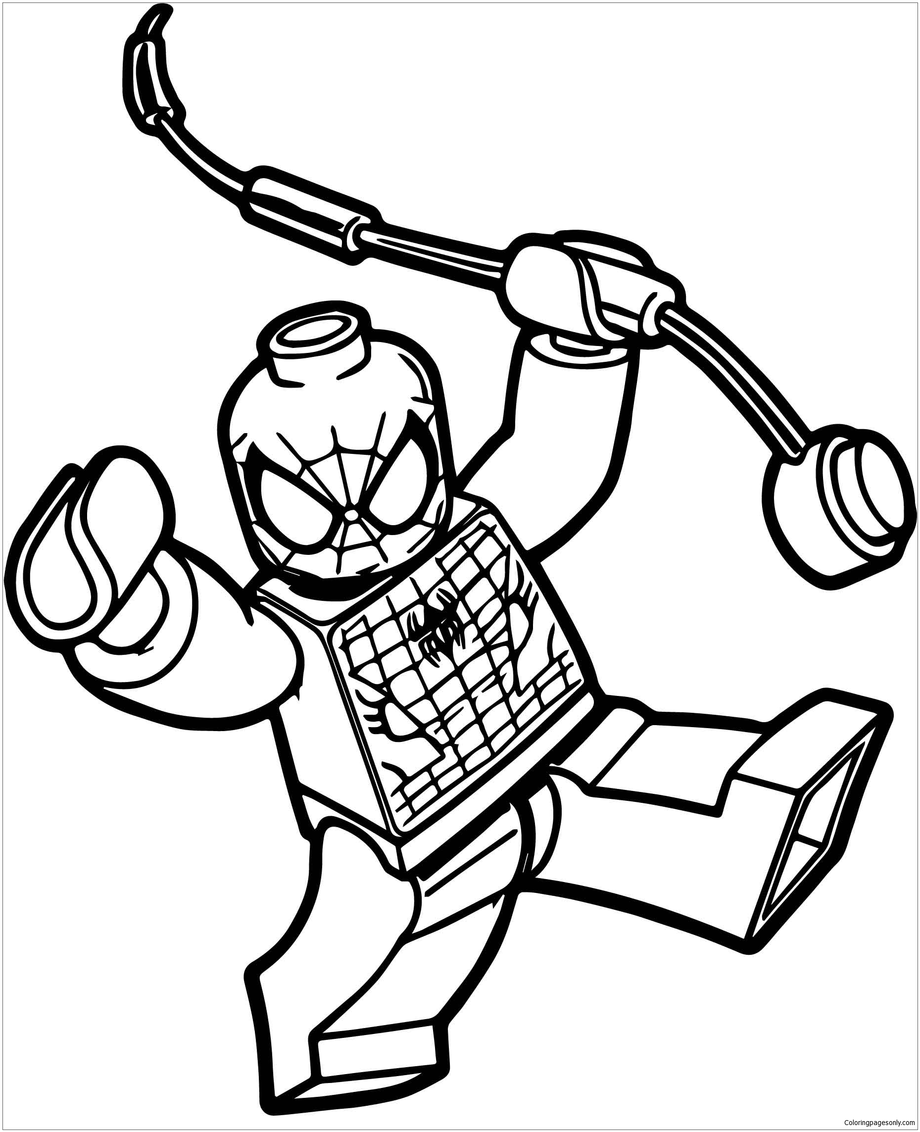 Box Spiderman Lego Spider Man Coloring