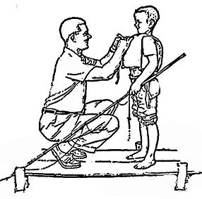 Boy and Dad on Dock by Norman Rockwell Coloring Page