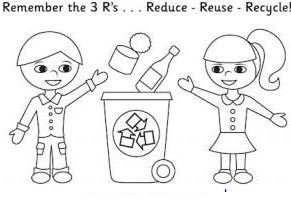 Boy And Girl Recycling