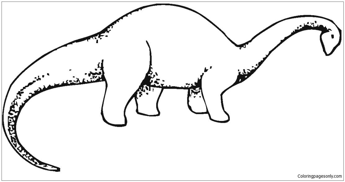 Brachiosaurus 3 Coloring Page