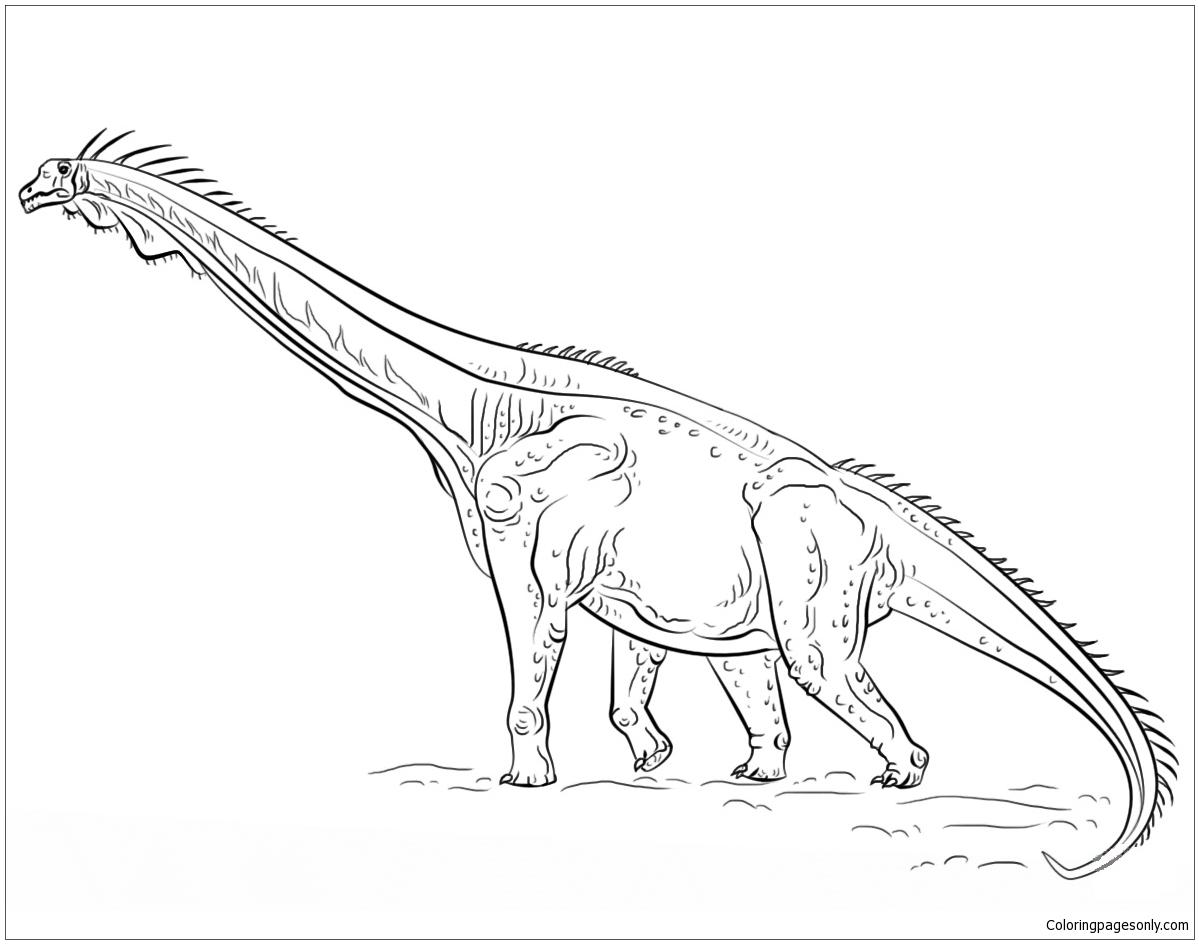 Brachiosaurus 4 Coloring Page