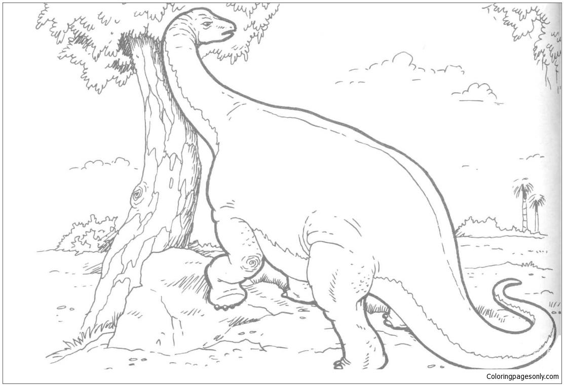 Brachiosaurus Dinosaur 1 Coloring Page