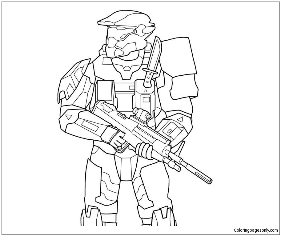 Brave Halo Coloring Page