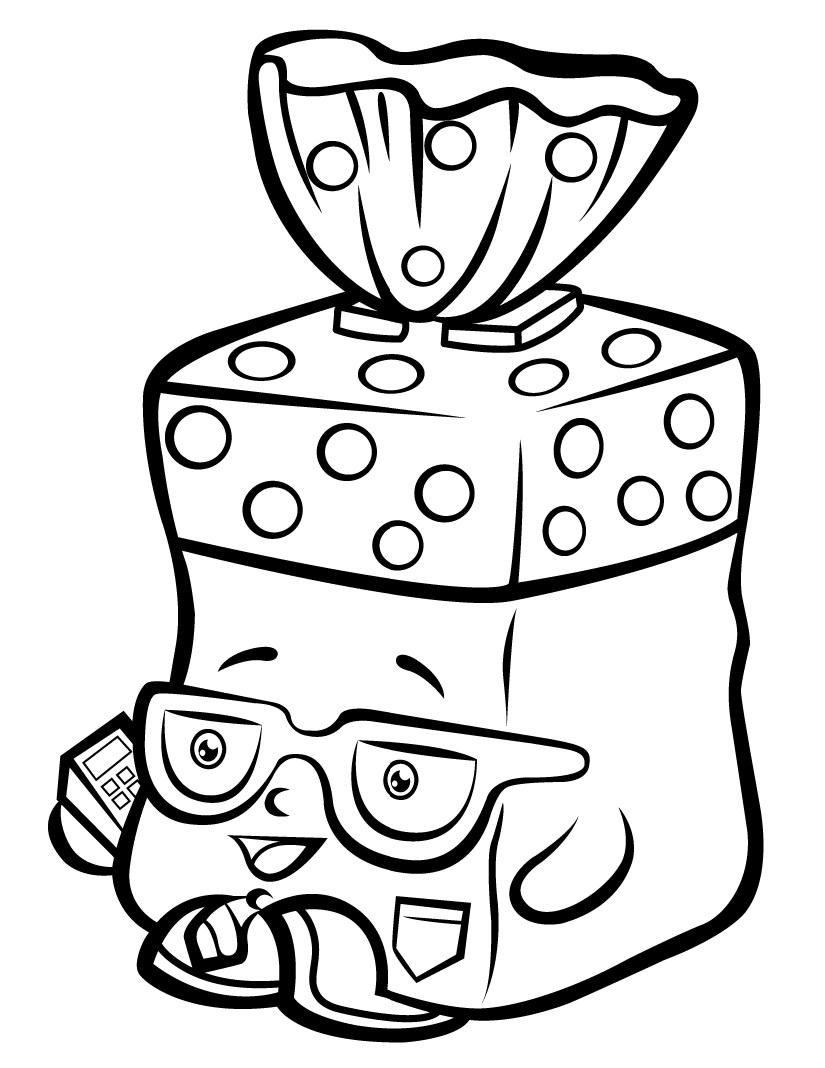 Bread Head Shopkin Season 1 Coloring Page