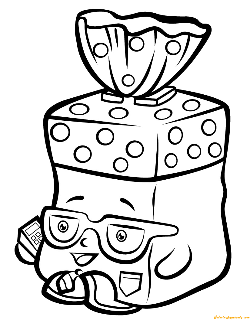 Bread Head Shopkin Season 1 Coloring Page