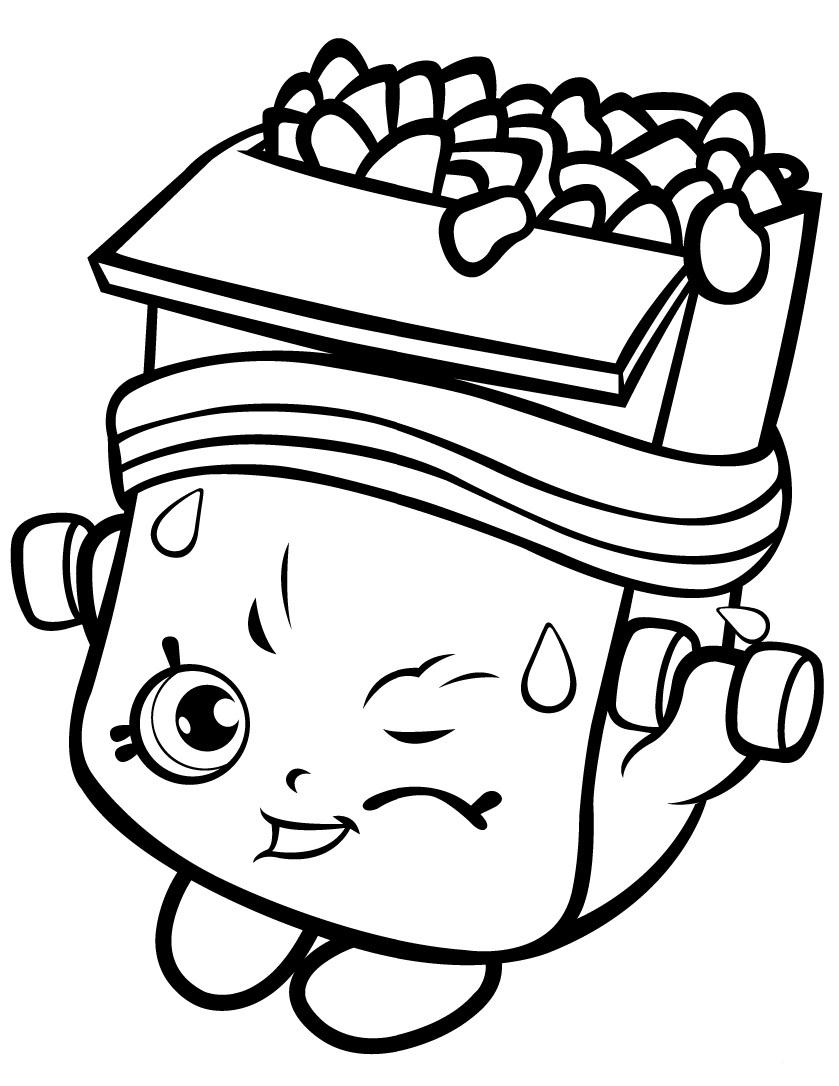 Breaky Crunch Shopkin Season 1 Coloring Page