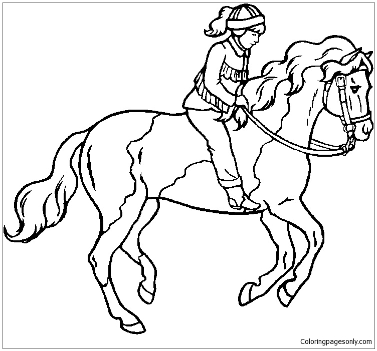 Breyer Horse Coloring Page