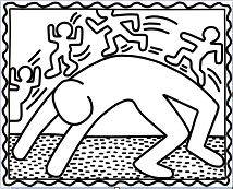 Bridge Exercise by Keith Haring Coloring Page
