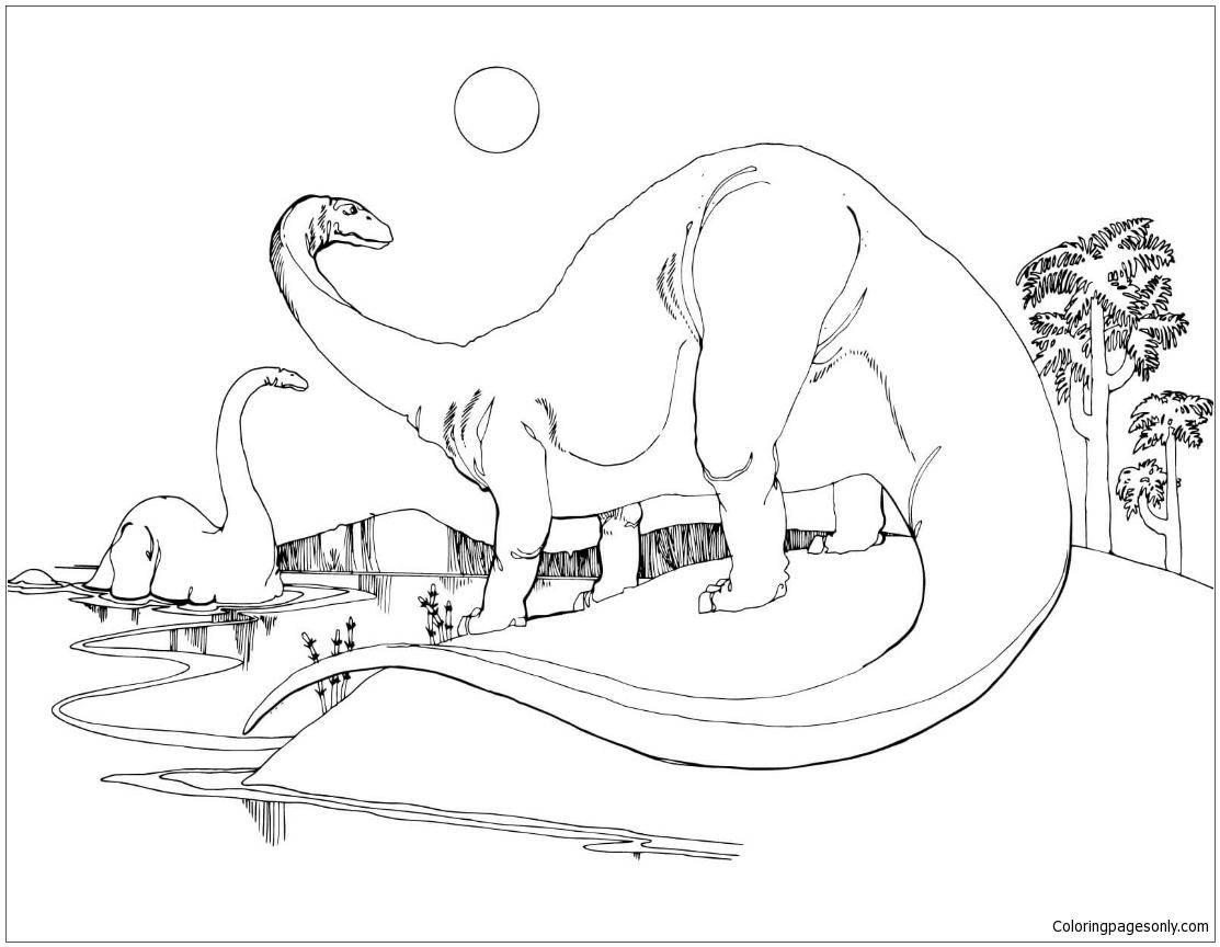 Brontosaurus Apatosaurus Coloring Page
