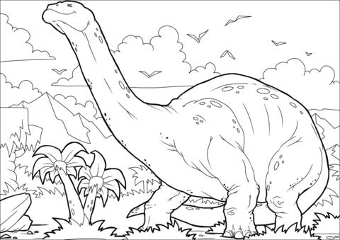 Brontosaurus coloring image Coloring Page