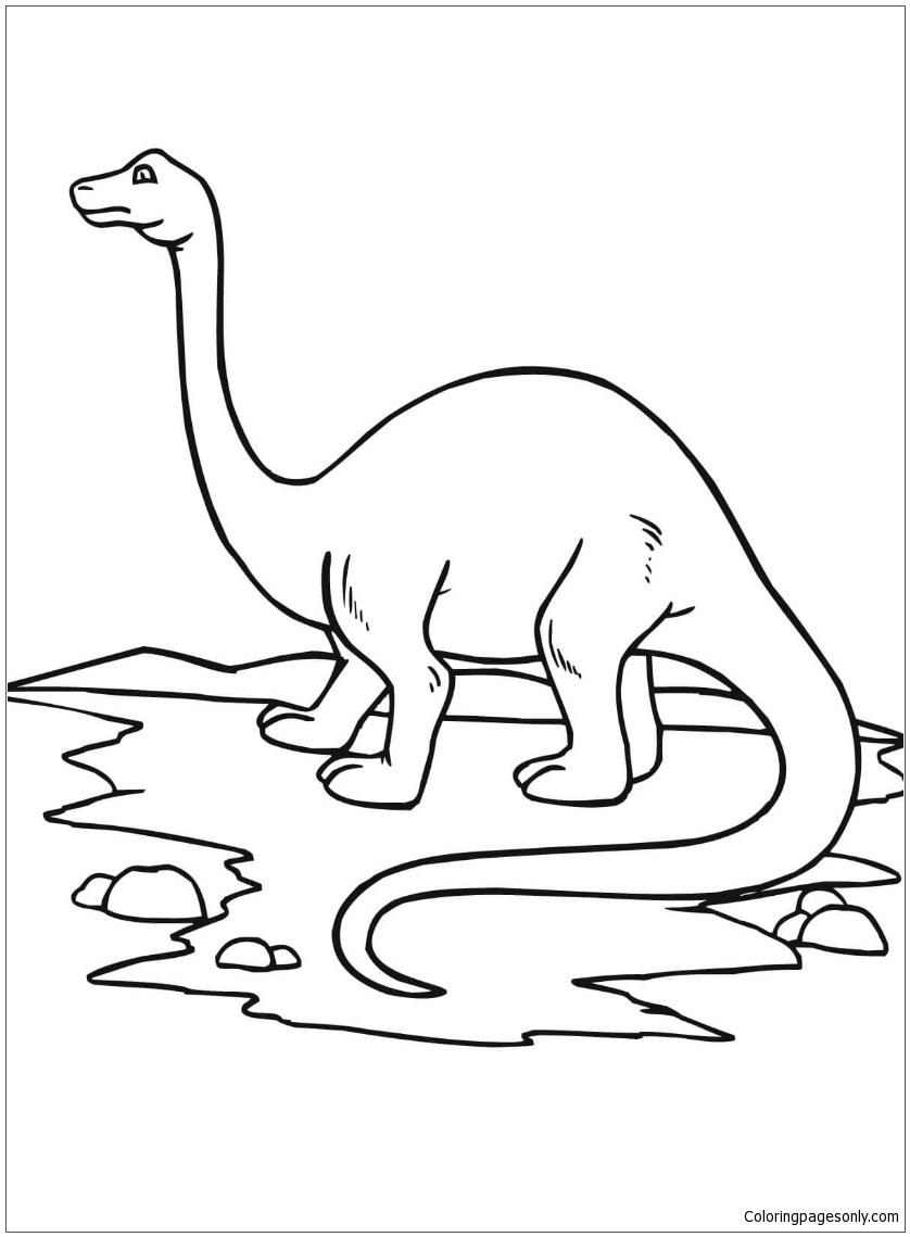 Brontosaurus Dinosaur Coloring Page