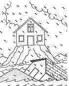 Built His House On The Rock Coloring Page