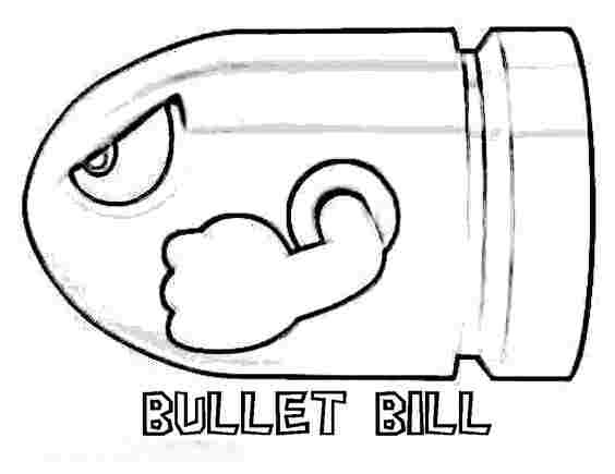 Bullet bill is flying Coloring Page