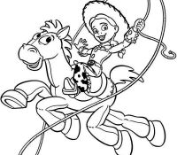 Bullseye and Jessy Coloring Page