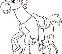 Bullseye Happy From Toystory Coloring Page