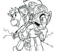 Bullseye Jessie And Woody Toy Story Coloring Page