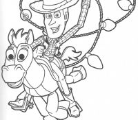 Bullseye And Woody Coloring Page
