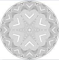 Bullseye Heart Mandala