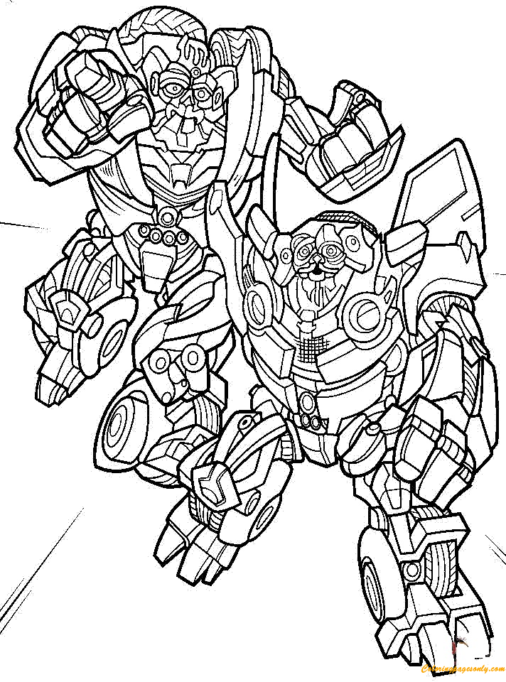 transformer bumblebee coloring pages - photo#26