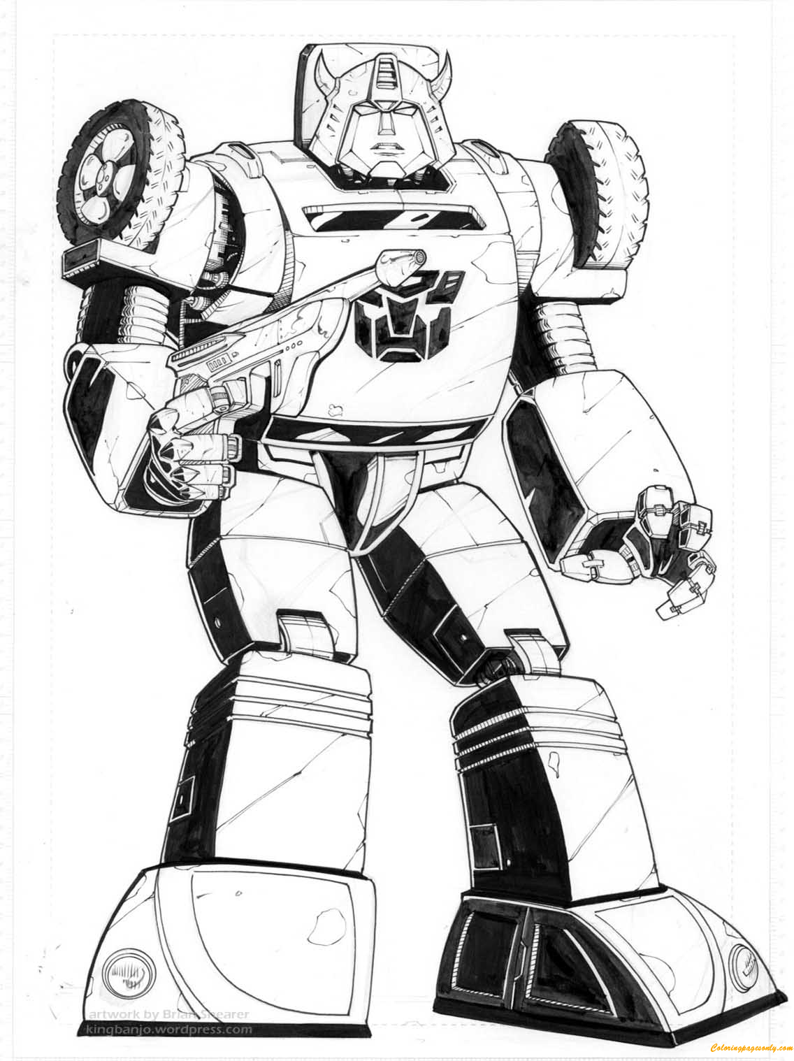 Bumblebee Transformers Coloring Page Free Coloring Pages
