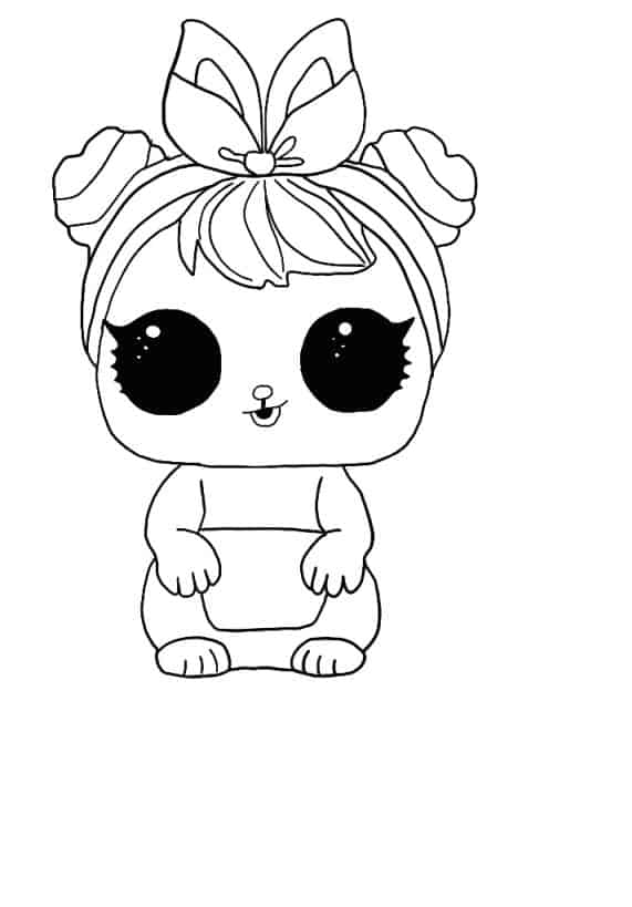 Lol Suprise Doll Bunny in the woods Coloring Page