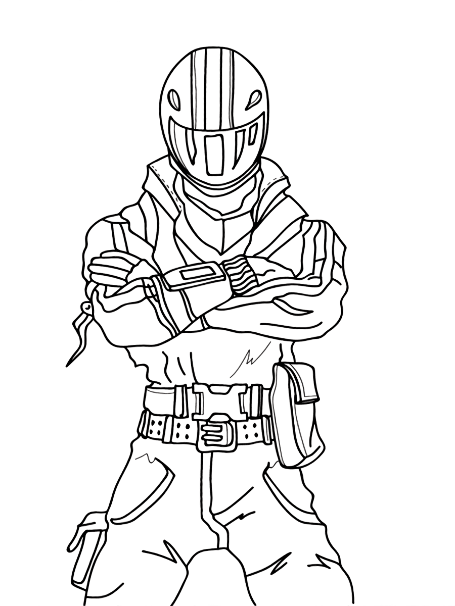 Burnout brings Wheelie from Fortnite Coloring Page