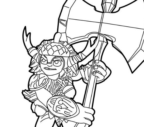 bushwhack - Skylander Coloring Pages Tree Rex